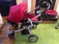 3 in 1 stroller in good condition, only message