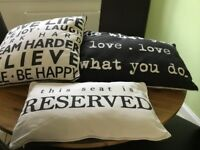Cushions for sofa/chairs - very modern