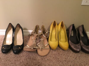 Shoes and heels size 7.5-8.5