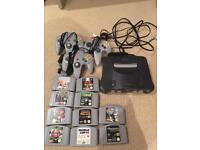 N64 Console + Controllers + Games!!!