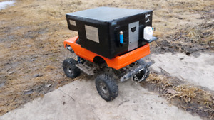 Rc hard body and camper.