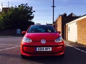 2014 VOLKSWAGEN UP 1.0 BLUEMOTION TECH ONLY 25000 MILEAGE £0 ROAD TAX
