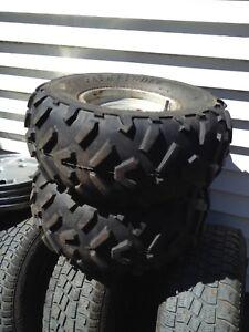 Two 22/10/10 Kenda pathfinder atv tires on rims
