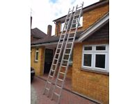 Youngmans DIY aluminium ladder two 4.5m sections
