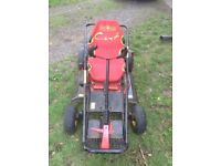 Ride on lawn mower and go cart