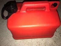 PLASTIC FUEL TANK 5 LITRE JERRY CAN RED BOAT RIB JETSKI CAR LAWNMOWER PETROL DIESEL