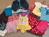 Selection of girls clothes aged 18-24 months
