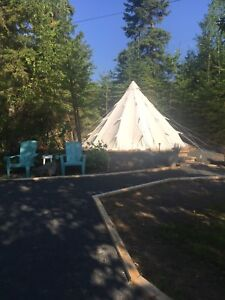 16 x16 foot canvas all weather tipi tent camping glamping