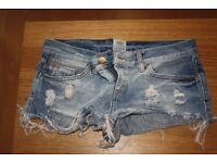 pair of river island denim shorts