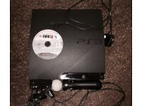 PS3 Slim 160GB With PS Move Set