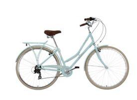 Ladies', mint-coloured bike.