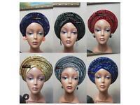 60 x Embellished Turban Scarf Headwrap Cap