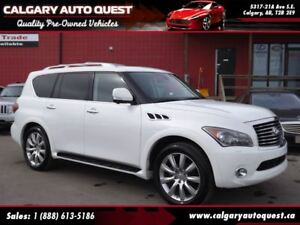 2011 Infiniti QX56 4WD/NAVI/CAM/H.REST DVD/LEATHER/ROOF/3RD-ROW