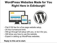 WordPress Websites Made for You Right Here in Edinburgh!