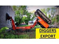 **WANTED - DIGGERS FOR EXPORT MARKET!!! HITACHI AND MORE!