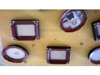 12 miniature picture frames
