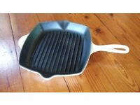 Cream Le cruset griddle pan