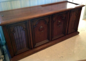 Mid Century Sideboard Stereo & Speakers Console (c. 1970)