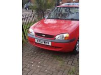 Ford fiesta red my first car bought