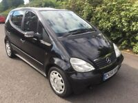 04 MERCEDES BENZ A CLASS 1.6 LITRE PETROL*** NEW MOT 26/8/18 NO ADVISORIES***ONE OWNER FROM NEW***