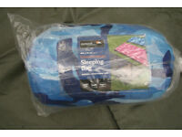 New - Outdoor Essentials - Summer - Envelope Sleeping Bag in striking Blue Camo