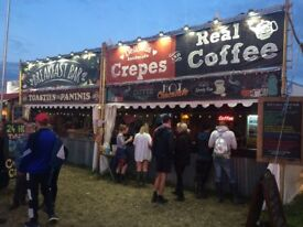 Catering , serving food at a festival