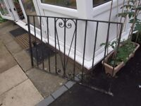 1 Gate - One Wrought Iron Gate Height 30 cms Width 124cms app. Suitable for driveway Garden etc