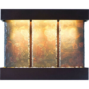 Water Wonders Slatetech Triptych Falls with Copper Vein Trim
