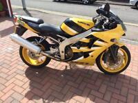 Kawasaki ZX6R Ninja 600cc 2002 yellow motorcycle motorbike