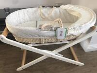Mothercare Moses basket c/w stand