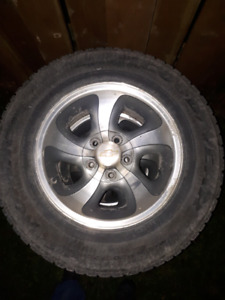 5x120 rims with good snow tires