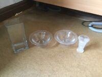 Glass Vases and Bowls £10