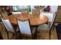 Vintage Retro G Plan Extending Table and Chairs