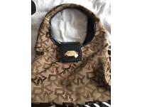 Original authentic designer bag DKNY brown, black,chocolate quality and in good condition