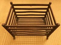 Heavy Vintage Iron Fire Grate