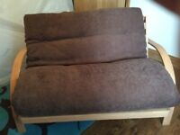 FUTON SOFA BED - USED ONE, AS NEW CONDTION- COST NEW £ 500... BARGAIN