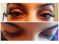 High quality individual silk and mink eyelash extensions. Only £15