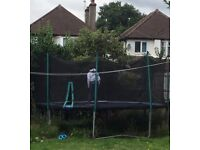 extra large trampoline ...perfect condition.... it's worth over £1000 .