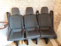 Mercedes Vito W638 MK1 TRIPLE ROW OF REAR SEATS - quick relesase - super condition, delivery no prob