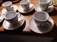 BOUGHT IN TURKEY 6 SMALL ESPRESSO CUPS AND SAUCERS NEW