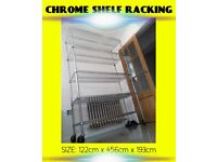 CATERING RACK SHELF SHOP FITTING 6 SHELVES CHROME 362KG HEAVY DUTY STOCK DISPLAY STORE STORAGE
