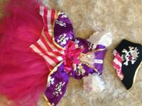 Girls Pirate & Tiana Fancy Dress Age 3-4 years