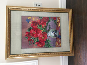 Brand new sewing and framed decoration