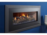 HIGH EFFICIENCY GLASS FRONTED HOLE IN THE WALL GAS FIRE