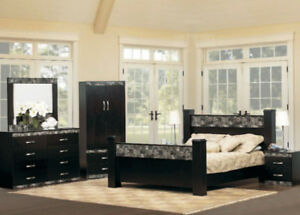 Canadian Made (Choice of Color) Queen Bedroom Set All 8 pcs.