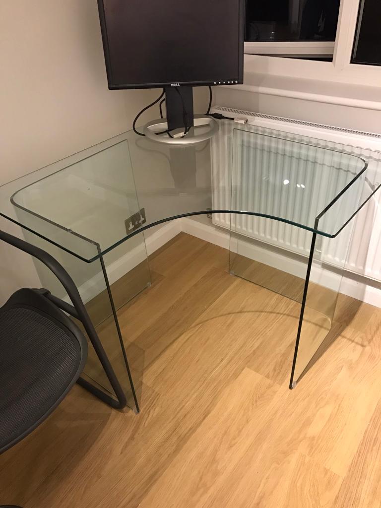 John lewis staten glass corner desk
