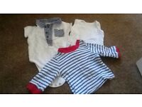 Bundle of Baby Clothes & Pair of Baby Shoes