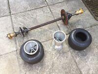 Go kart rear axle