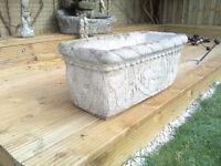 Stone garden trough