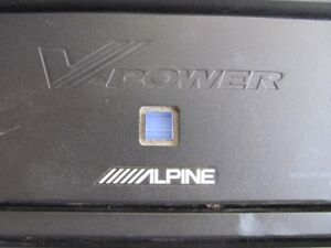 "Alpine amp and Sub box with 2 10"" Mtx Audio Jack Hammer subs"